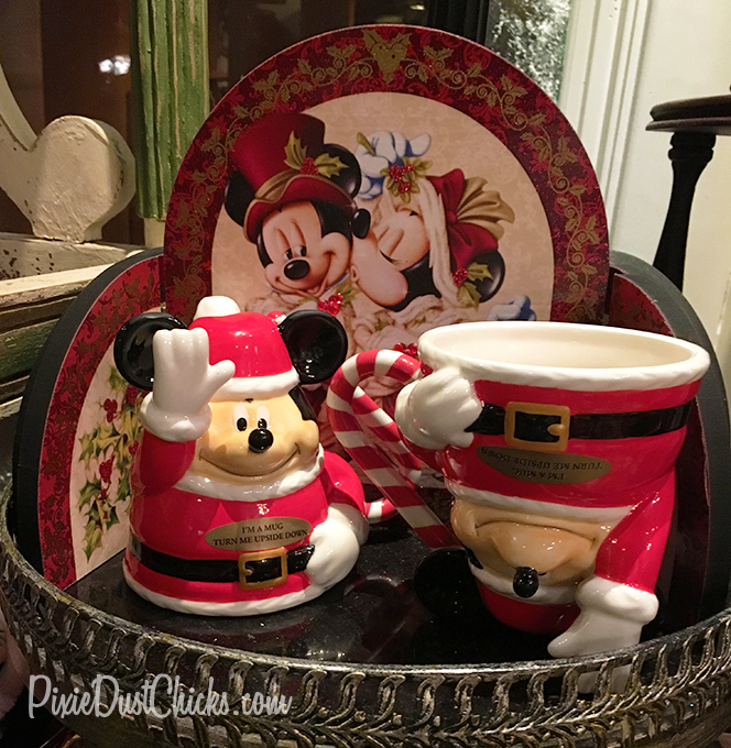 Mickey Mouse Christmas upside down mug at Walt Disney World | PixieDustChicks.com