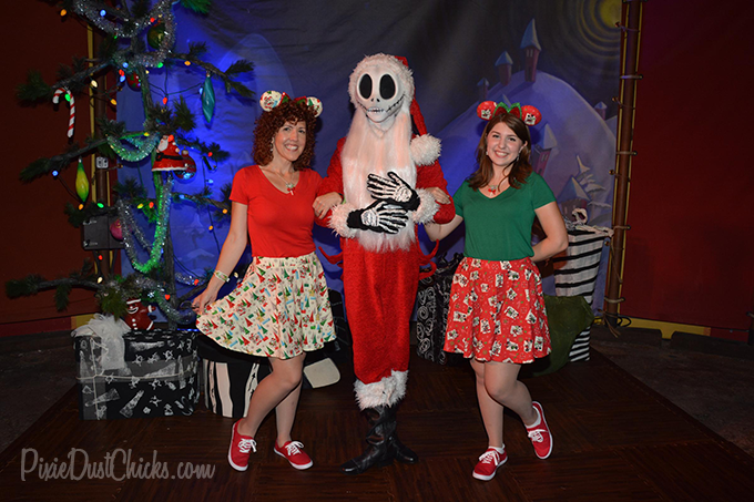 Jack Skellington as Sandy Claws with us at Mickey's Very Merry Christmas Party in the Magic Kingdom! | PixieDustChicks.com