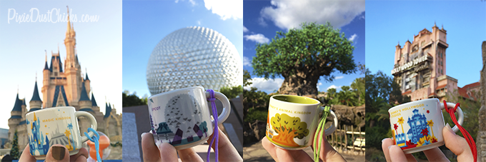 Starbucks Disney Parks mini-mugs Christmas ornaments! | PixieDustChicks.com