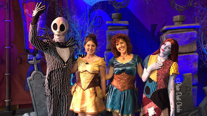 Pixie Dust Chicks with Sally and Jack Skellington at MNSSHP | PixieDustChicks.com
