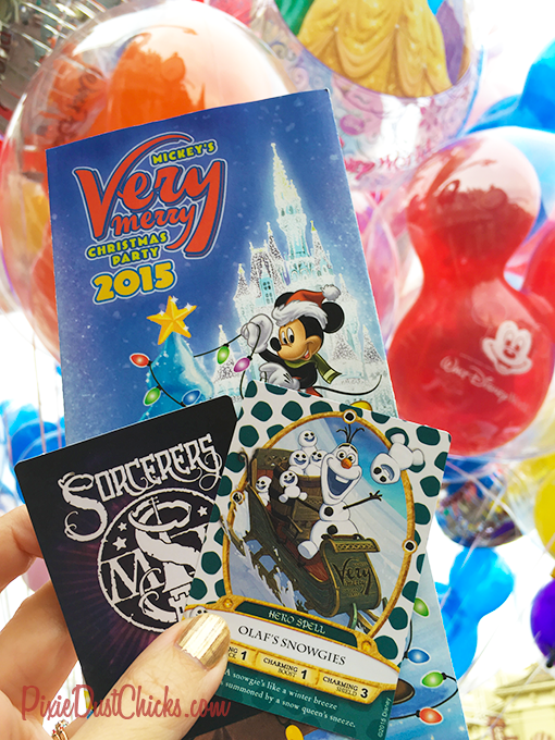 Disney's Sorcerers of the Magic Kingdom special event card at Mickey's Very Merry Christmas Party! | PixieDustChicks.com