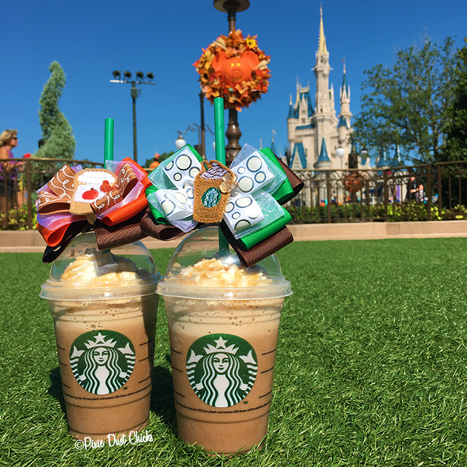 Starbucks at Magic Kingdom | bows by TheBowMama on Etsy | PixieDustChicks.com