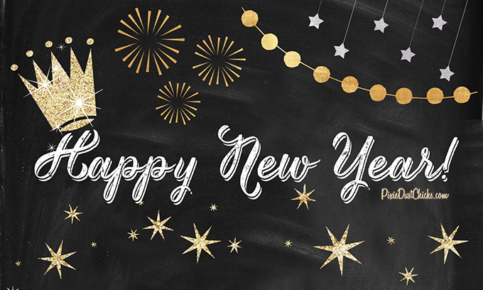 Happy New Year! | Using Rhona Designs | PixieDustChicks.com