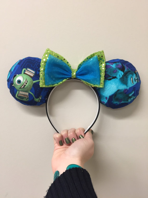 Monsters Inc. Mike and Sulley ears by EarfulTowerDesigns on Etsy