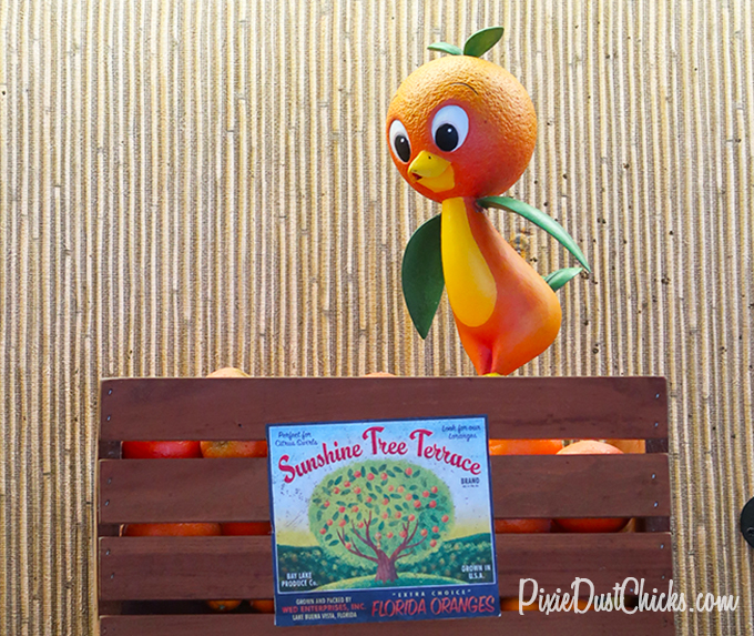 Orange Bird display at Sunshine Tree Terrace in Magic Kingdom