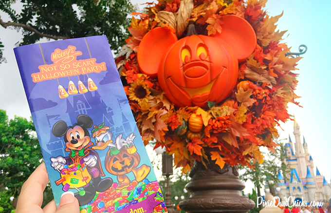Mickey's Not-So-Scary Halloween Party map for 2017 in the Magic Kingdom!